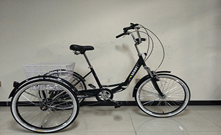 folding tricycle in black