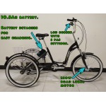 "Adults electric folding tricycle, in Black 24"" wheels, 6-speed shimano gears"