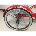 "Adults electric folding tricycle, in Red 24"" wheels, 6-speed shimano gears"