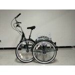"Adults folding tricycle, in Grey 24"" wheels, 6-speed shimano gears"