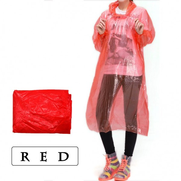 Lightweight Adult Emergency Hooded Raincoat disposable rain poncho For Festivals, Camping, Theme Parks