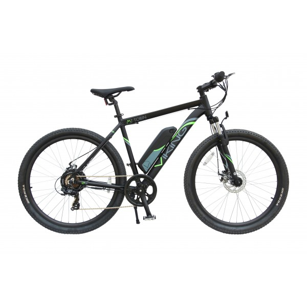 MT TOBIN, MTB, ELECTRIC MOUNTAIN BIKE, 7 SPEED, 36V E-BIKE, 650B WHEEL, BLACK