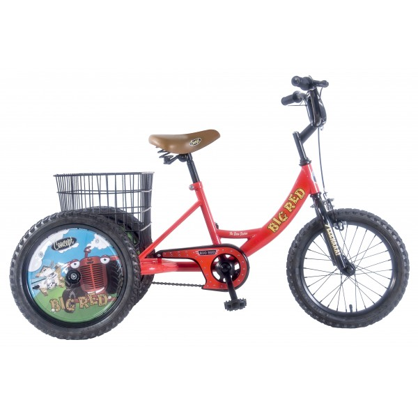 "CONCEPT TRI-MANTIS BOYS SINGLE SPEED TRIKE, 16"" WHEEL, RED"
