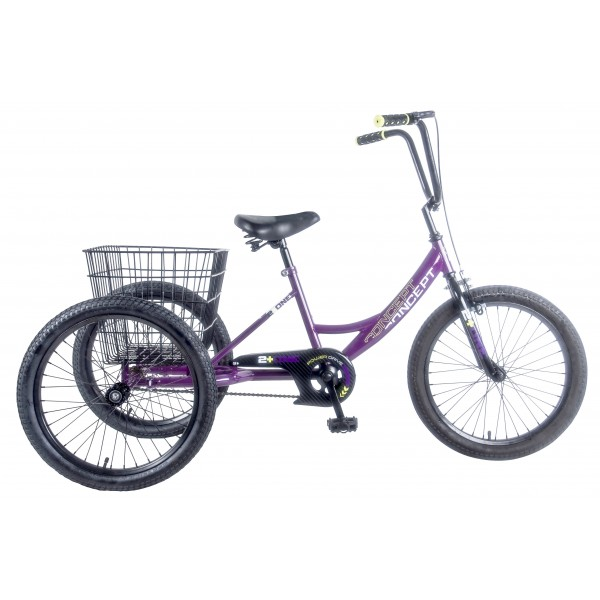 "CONCEPT 2 + ONE GIRLS SINGLE SPEED TRIKE, 20"" WHEEL"